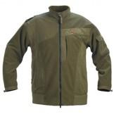 Fleece jakke, foret, vind og vandafvisende, farve: Oliven