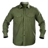 Skjorte, Graff 100% bomuld, farve:Oliven